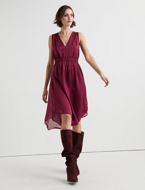 SATIN DRESS,
