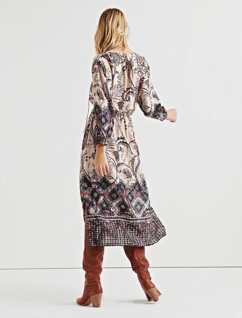 LISA BORDER PRINT DRESS, MULTI