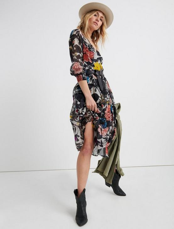 ABSTRACT FLORAL WRAP DRESS., MULTI, productTileDesktop