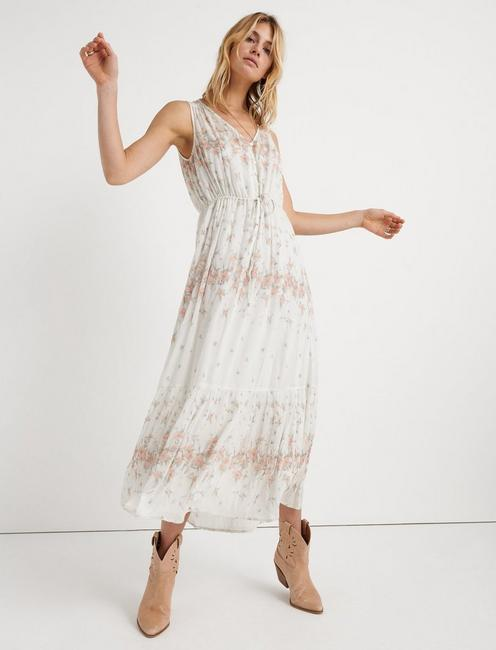CLOE MAXI DRESS, NATURAL MULTI