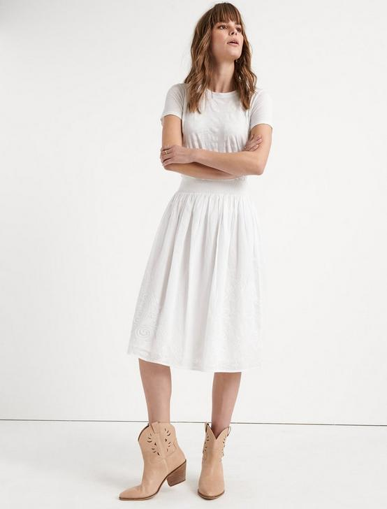 ELLA SKIRT, LUCKY WHITE, productTileDesktop