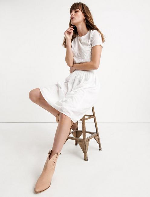 ELLA SKIRT, LUCKY WHITE