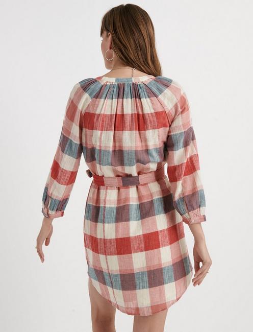 HARPER PEASANT DRESS, RED MULTI