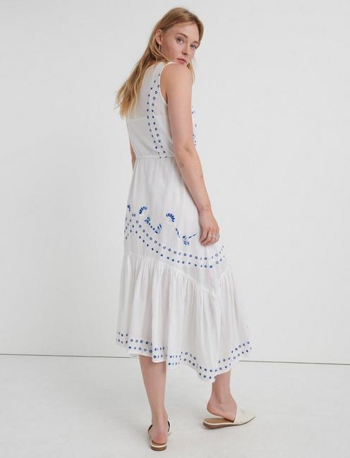 EVELYN SLEEVELESS DRESS, LUCKY WHITE