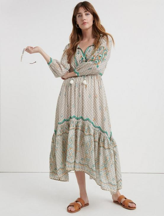 EVELYN EMBROIDERED DRESS, MULTI, productTileDesktop