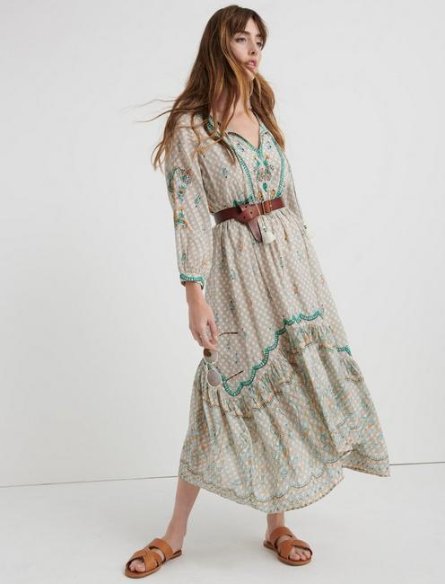 EVELYN EMBROIDERED DRESS, MULTI