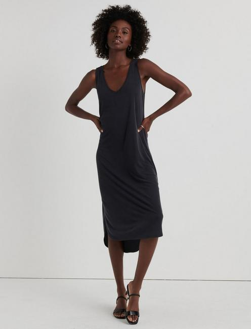 Ribbed Sandwash Tank Dress