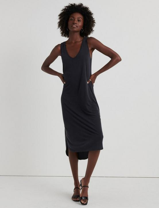 RIBBED SANDWASH TANK DRESS, 001 LUCKY BLACK, productTileDesktop