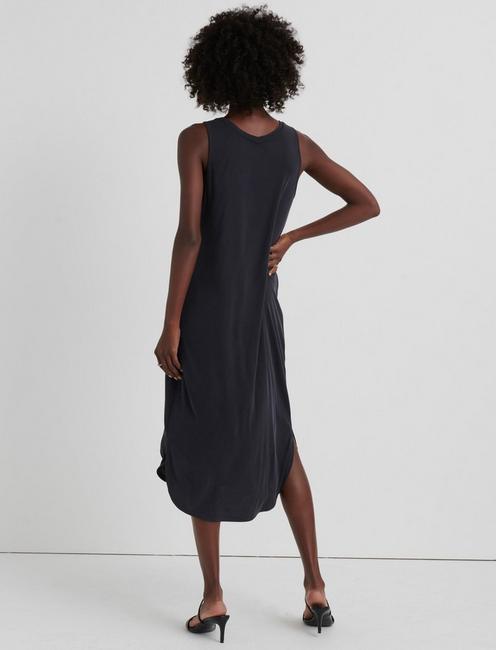 RIBBED SANDWASH TANK DRESS, 001 LUCKY BLACK