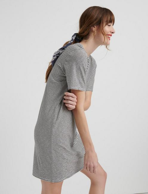 THE SUMMER TEE DRESS, BLACK STRIPE