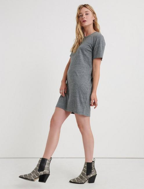 THE SUMMER TEE DRESS, HEATHER GREY