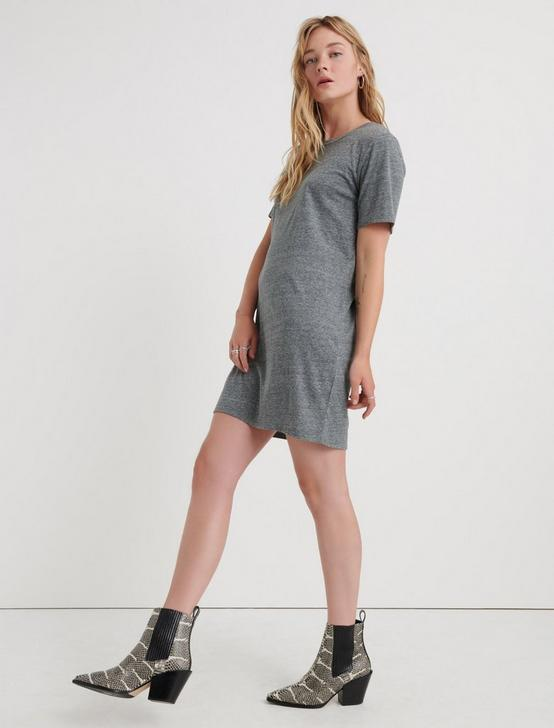 THE SUMMER TEE DRESS, HEATHER GREY, productTileDesktop