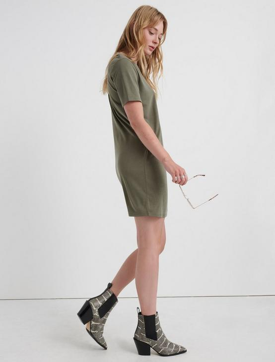 THE SUMMER TEE DRESS, OLIVE, productTileDesktop