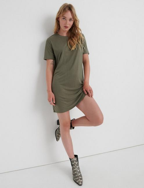 THE SUMMER TEE DRESS, OLIVE