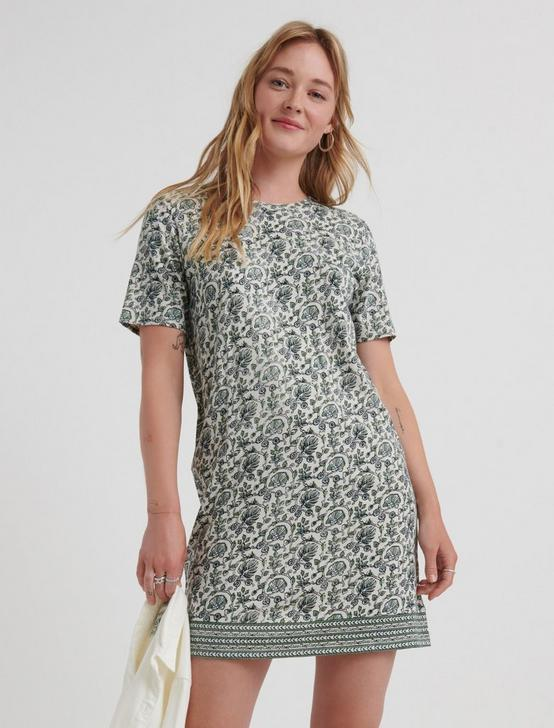 THE SUMMER TEE DRESS, GREEN MULTI, productTileDesktop