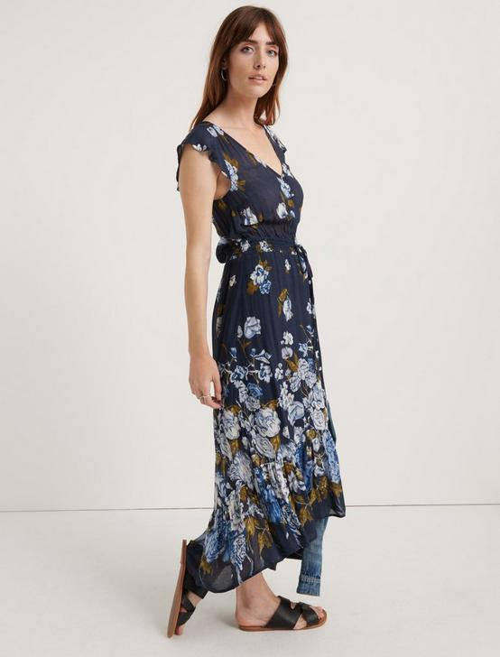 FLORAL PRINTED FELICE DRESS, NAVY MULTI, productTileDesktop