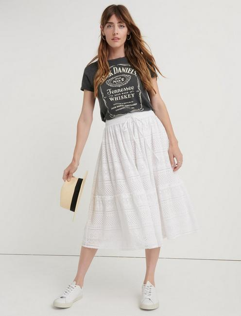 Eyelet Tiered Skirt