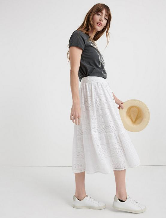 EYELET TIERED SKIRT, LUCKY WHITE, productTileDesktop
