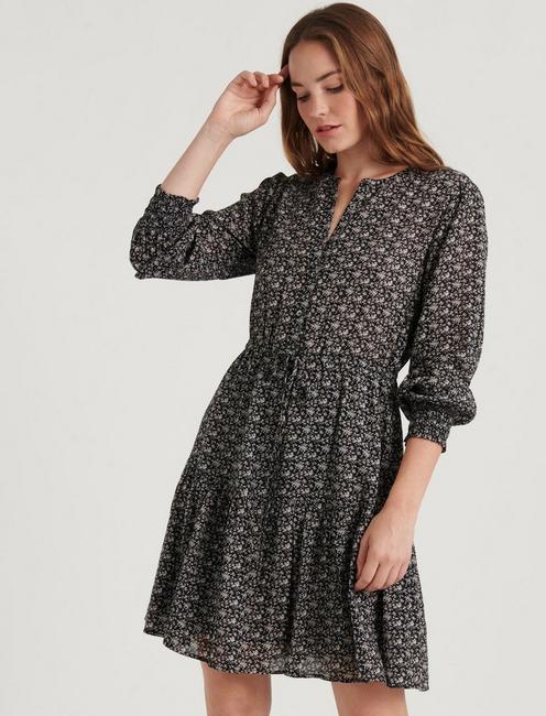 CARRIE DRESS, BLACK MULTI