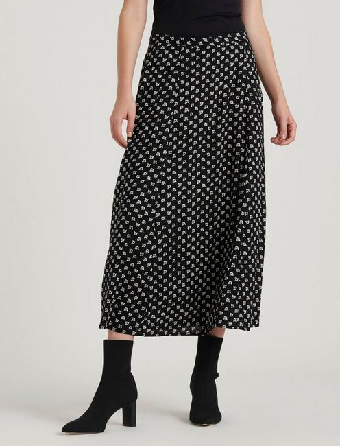 AMANDA CIRCLE SKIRT, BLACK MULTI