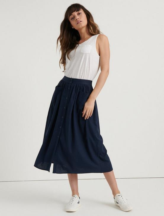 KARLIE SKIRT, AMERICAN NAVY, productTileDesktop