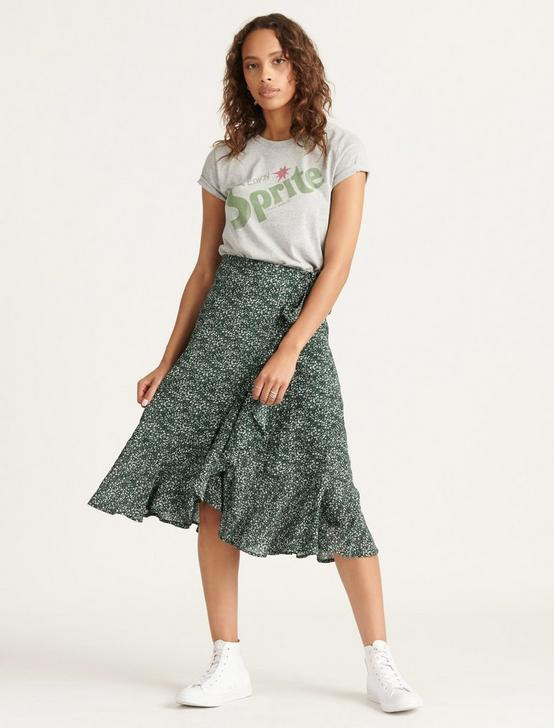 KIRA SKIRT, GREEN MULTI, productTileDesktop
