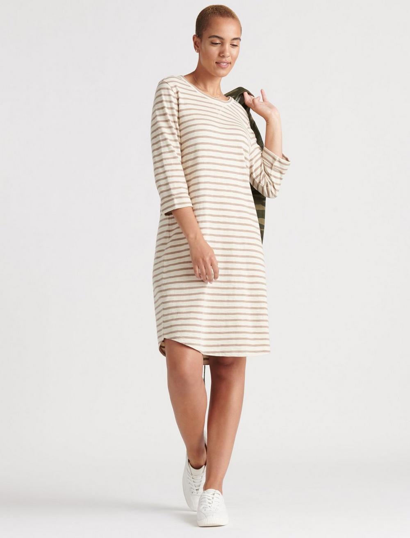 STRIPE TEE DRESS, image 1