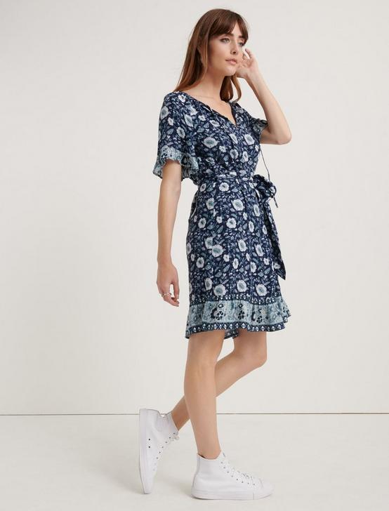 NORA DRESS, NAVY MULTI, productTileDesktop