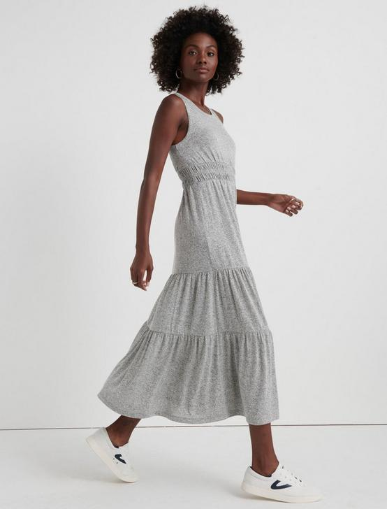 CLOUD JERSEY TIERED MAXI, HEATHER GREY, productTileDesktop