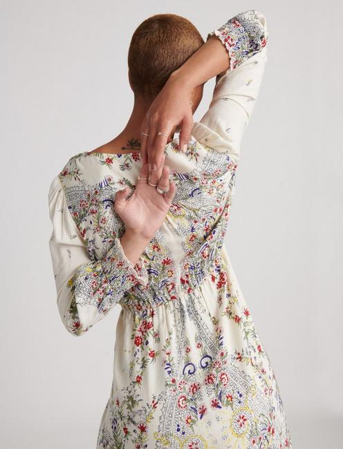 FELICITY DRESS, NATURAL MULTI