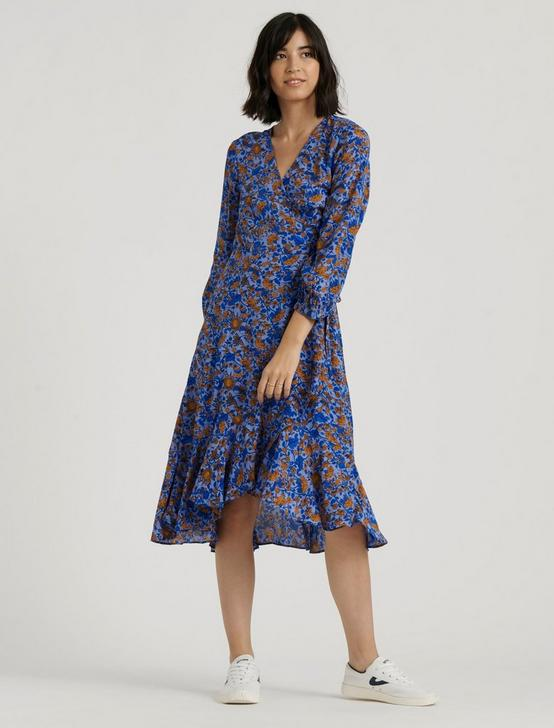 KARIN WRAP DRESS, BLUE MULTI, productTileDesktop