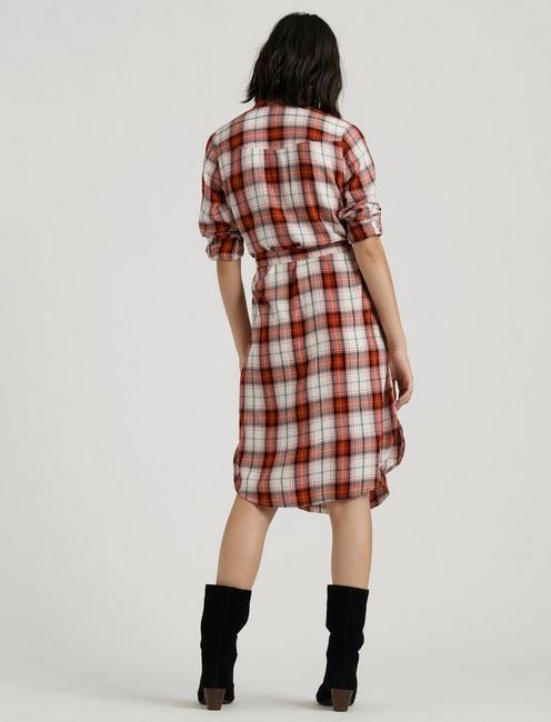 TRICIA WESTERN DRESS, RED MULTI