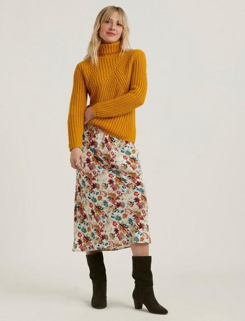 WILLA SLIP SKIRT, NATURAL MULTI