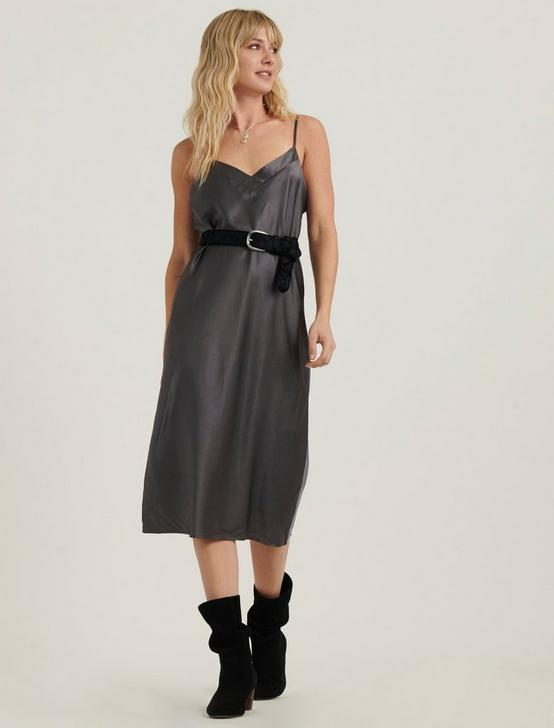 IVY SLIP DRESS, CHARCOAL, productTileDesktop