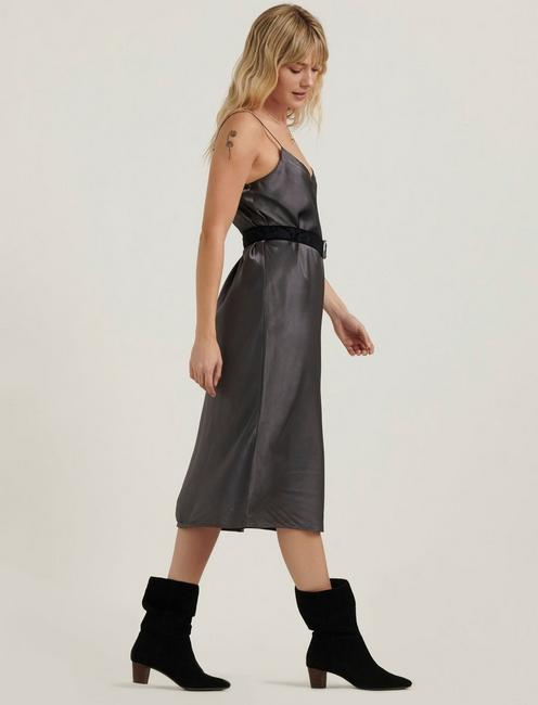 IVY SLIP DRESS, CHARCOAL