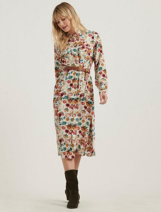 CHELSEA UTILITY DRESS, NATURAL MULTI, productTileDesktop