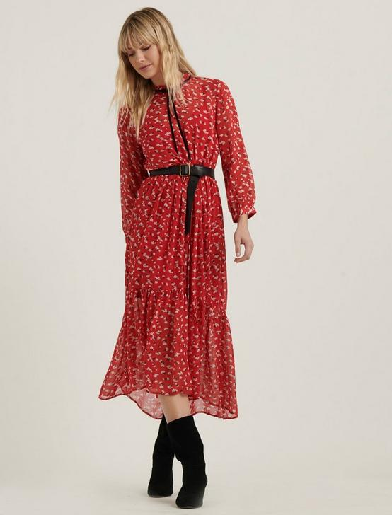 PRINTED RYAN DRESS, RED MULTI, productTileDesktop