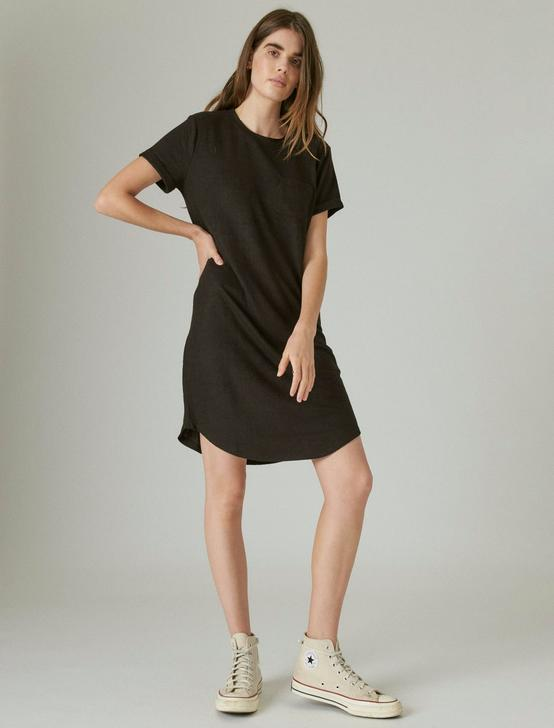 CLOUD JERSEY TEE DRESS, JET BLACK, productTileDesktop