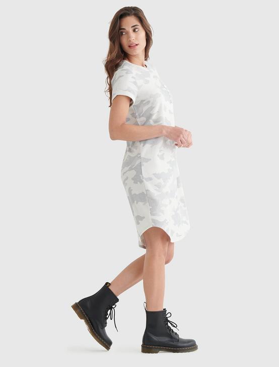 CLOUD JERSEY TEE DRESS, WHITE CAMO, productTileDesktop