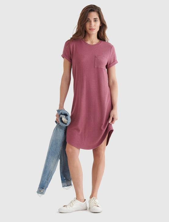 CLOUD JERSEY TEE DRESS, CRUSHED BERRY, productTileDesktop