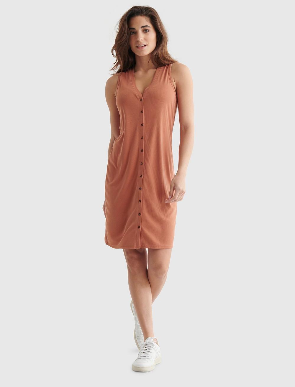 SANDWASH RIB TANK DRESS, image 1