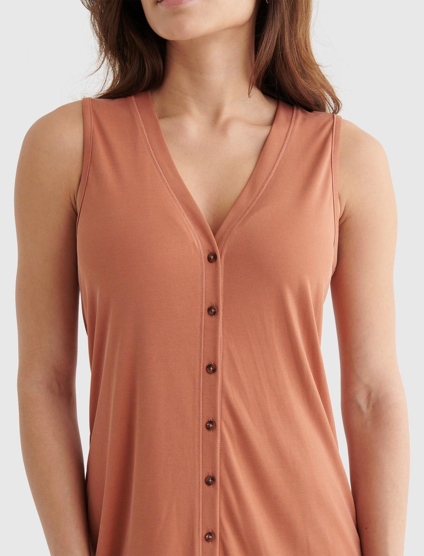 SANDWASH RIB TANK DRESS, image 4