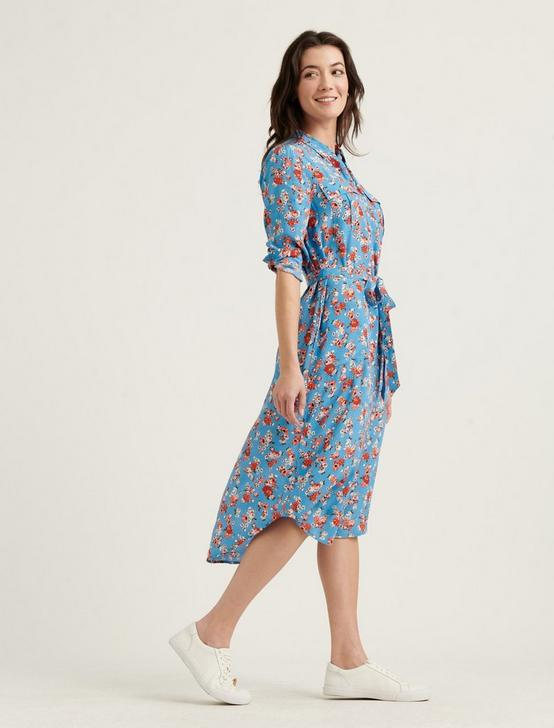 CHELSEA UTILITY MIDI DRESS, BLUE MULTI, productTileDesktop