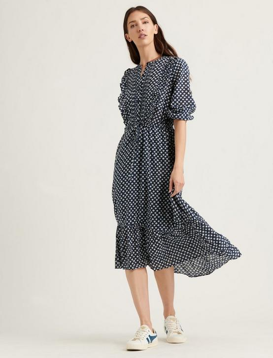 DAWN DRESS, NAVY MULTI, productTileDesktop