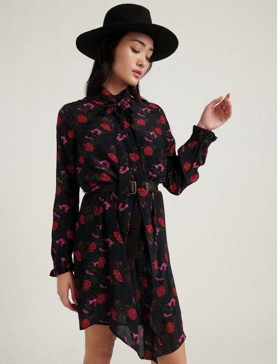 MACKENZIE PRINTED DRESS, BLACK MULTI, productTileDesktop