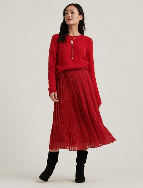 PLEATED BROOKLYN SKIRT, SCOOTER