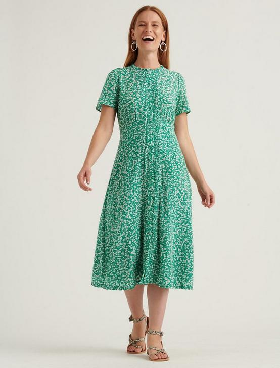 PENELOPE MIDI DRESS, GREEN MULTI, productTileDesktop