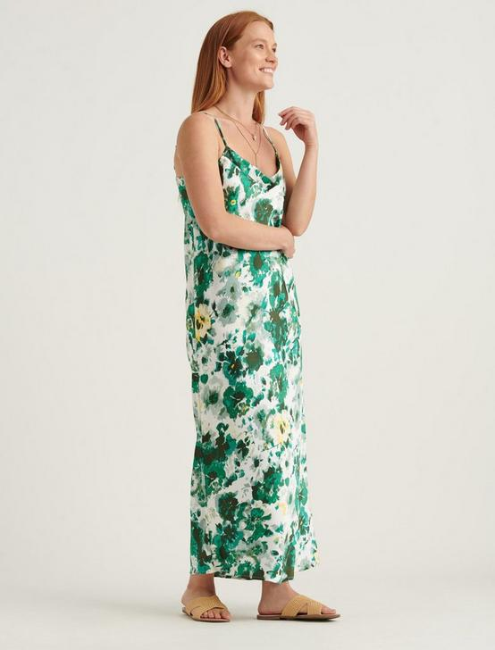 NATALIE SLIP MAXI DRESS, GREEN MULTI, productTileDesktop
