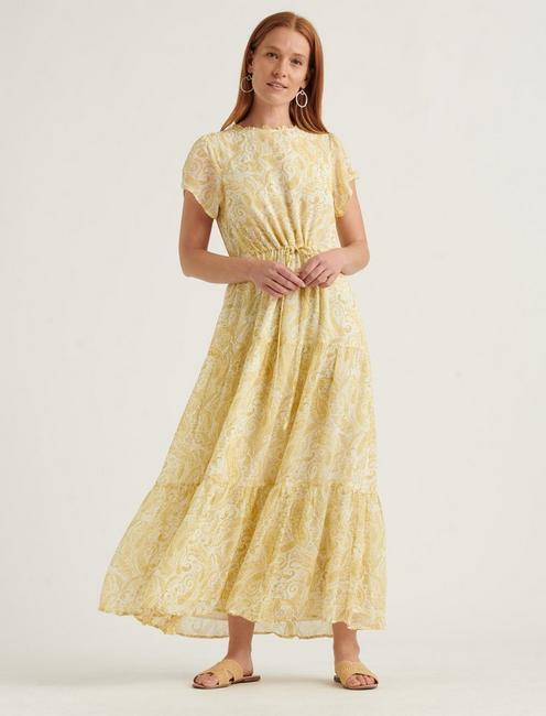ARIEL MAXI DRESS, YELLOW MULTI