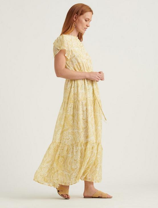 ARIEL MAXI DRESS, YELLOW MULTI, productTileDesktop